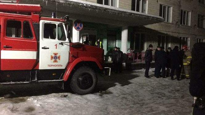 В Тернополе в подвальном помещении детской больницы произошел пожар