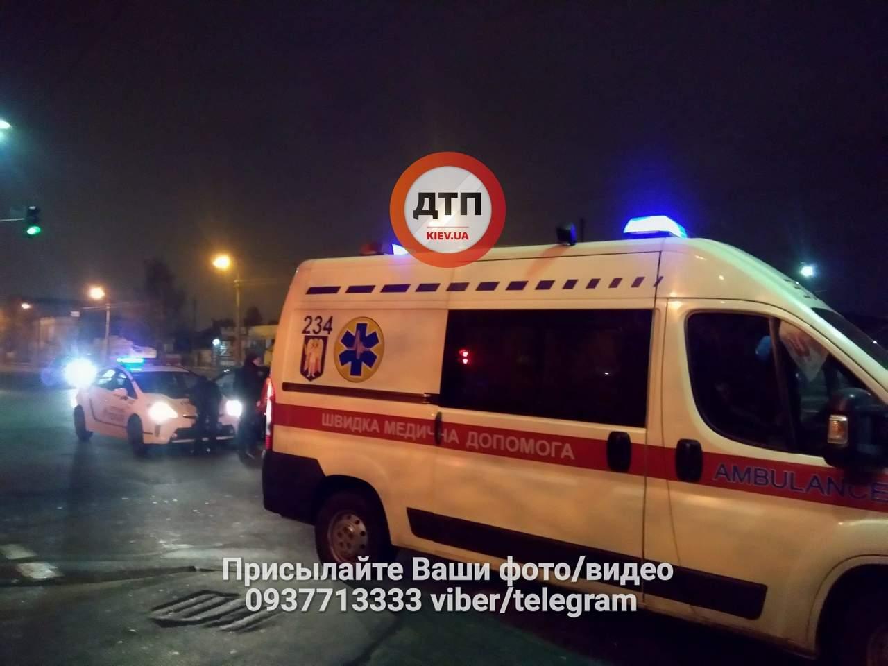 В Киеве под колеса автомобиля попал пьяный пешеход (фото)