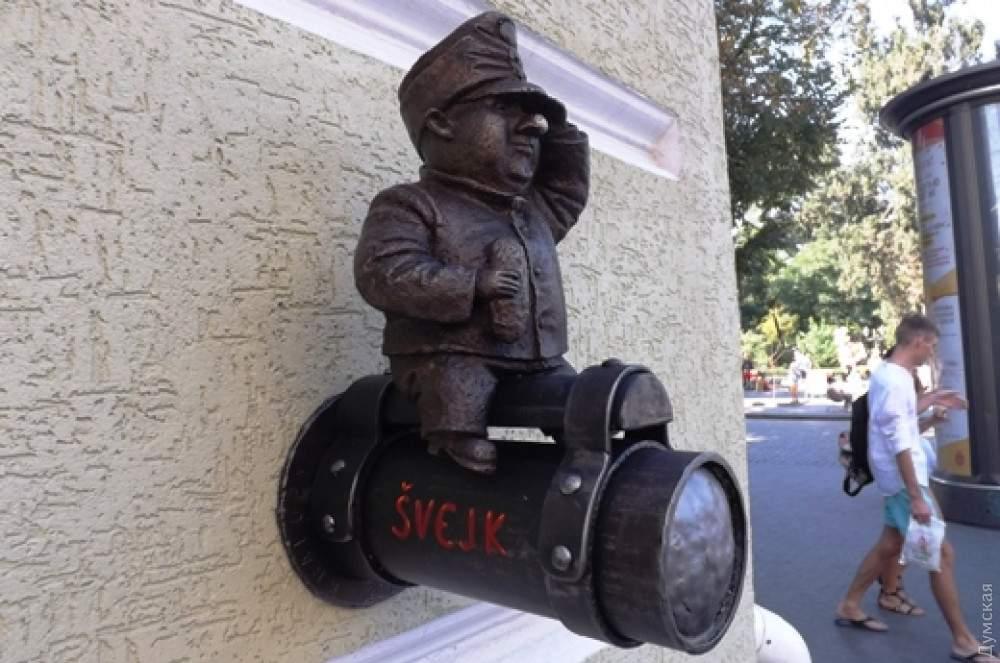 В Одессе вандалы украли скульптуру известного бравого солдата Швейка (фото)