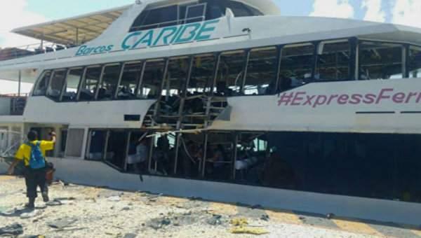 В Мексике в результате взрыва парома было ранено 13 человек
