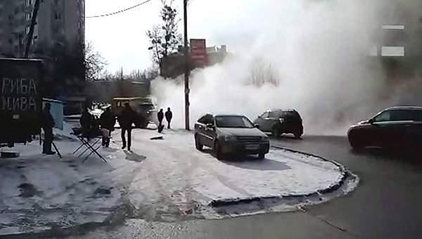 В Харькове  из-за аварии на теплотрассе без тепла остались сотни домов и десятки школ