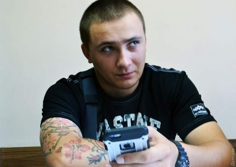 Одесский активист Стерненко дал показания по поводу драки на одной из парковок в Аркадии