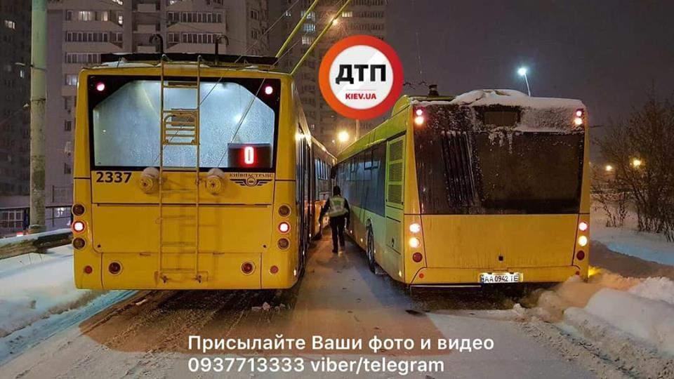 В столице в разных частях города произошло сразу два ДТП (фото)