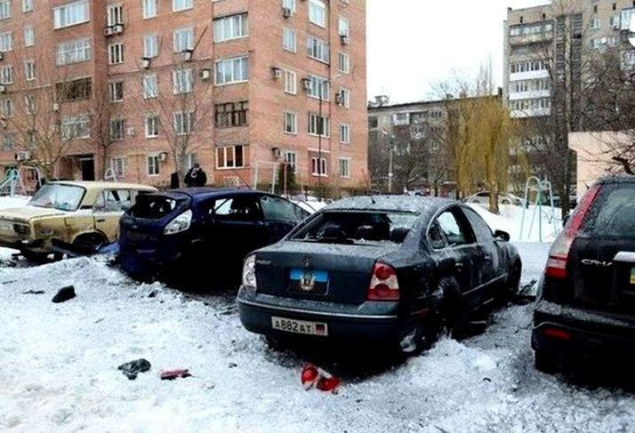 В Донецке взорвали авто (Видео)