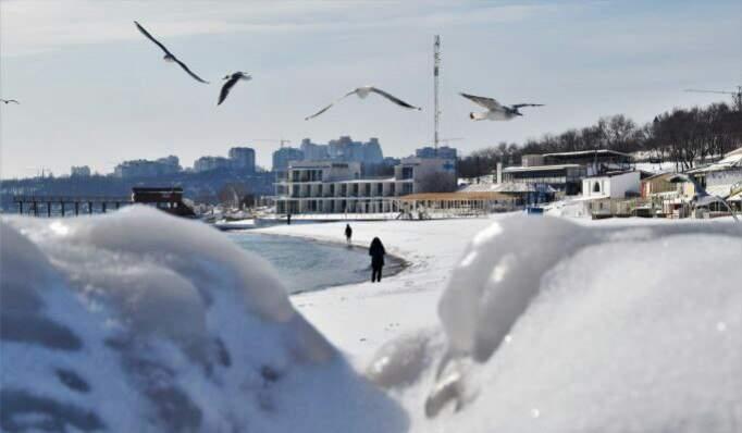 Сказочная Одесса завораживает зимними пейзажами (Фото)