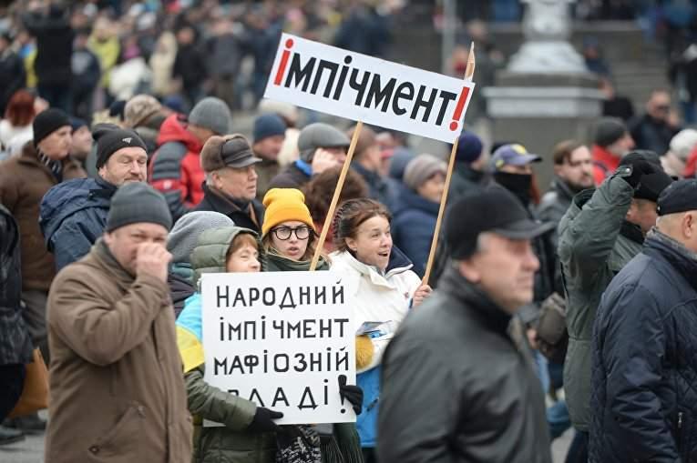 В столице проходит акция против президента (Видео)