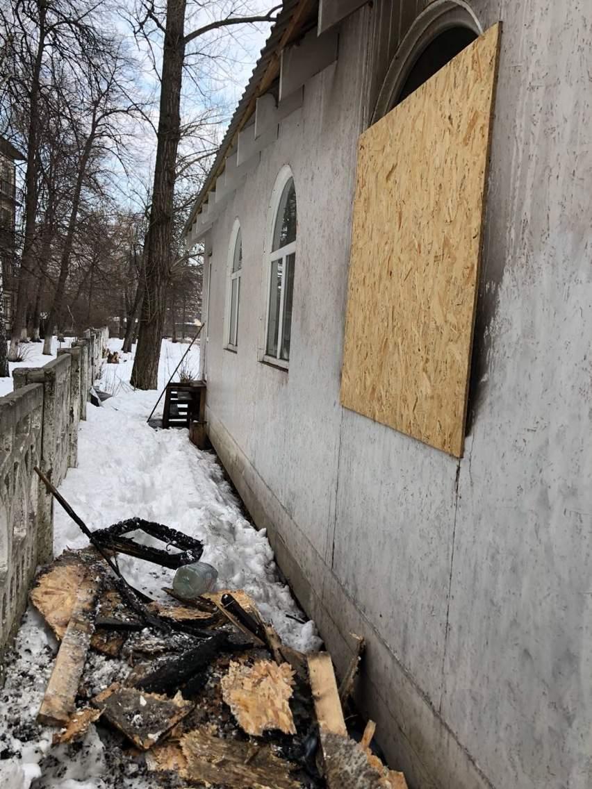 В Киеве неизвестные подожгли Храм Преображения Господня (фото)