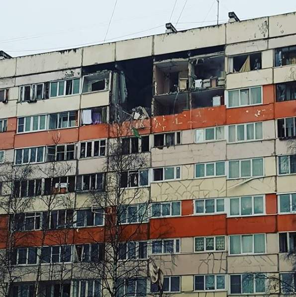 В России в многоэтажном жилом доме произошел взрыв газа (фото)