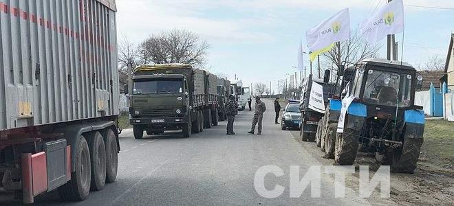 Аграрии перекрыли трассу Одесса-Рени (Фото)