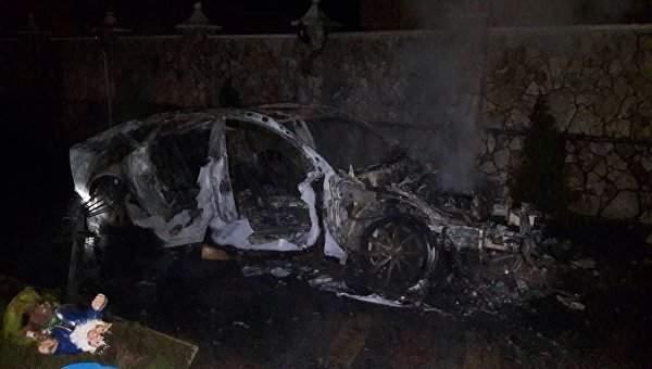 В Закарпатской области в результате конфликта двух семей ромов, подожгли престижное авто