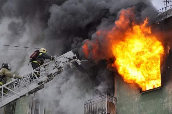 На Приднепровской ТЭС произошел пожар (Видео)