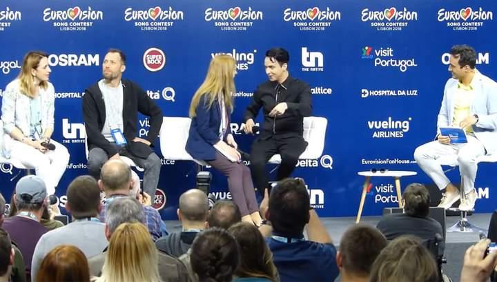 «Упс, забыл родной язык»: На пресс-конференции участник Еровидения Melovin вместо украинского, начал говорить на русском
