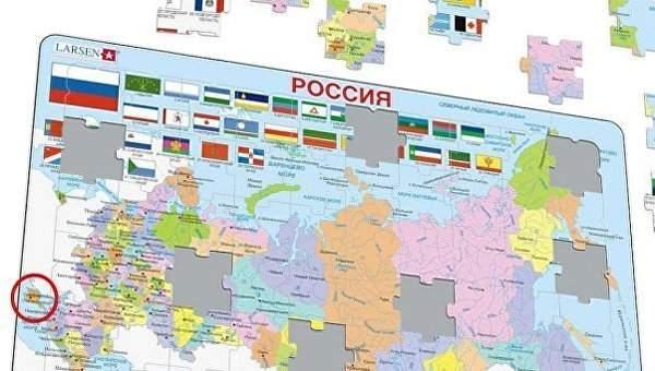 В Норвегии производитель головоломок выпустил пазлы с картой Украины без Крыма