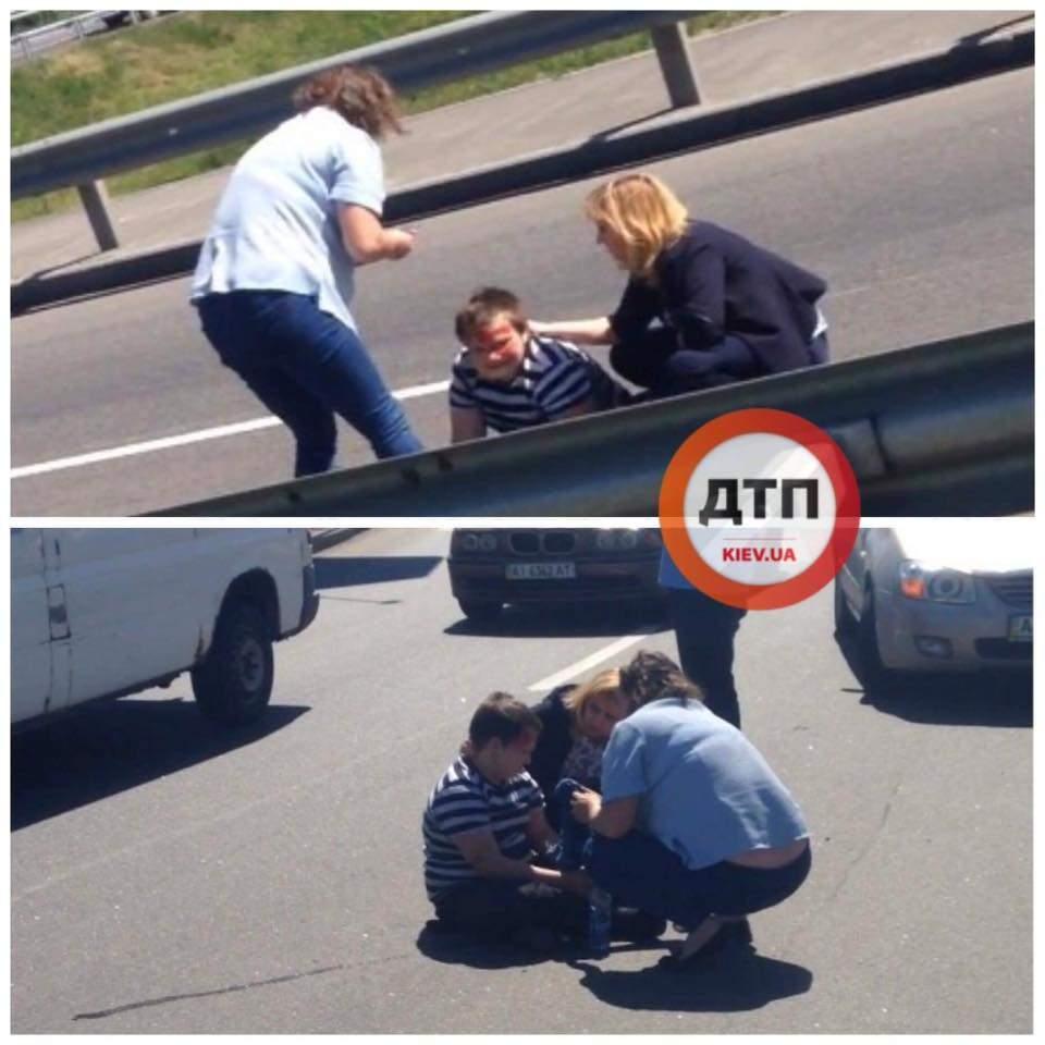 Под Киевом водитель съезжал с моста и сбил ребёнка на пешеходном переходе