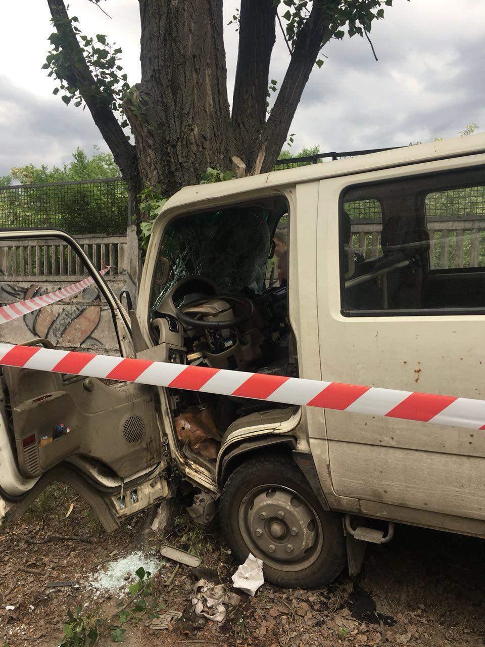 В Днепре нетрезвый водитель врезался дерево (фото)