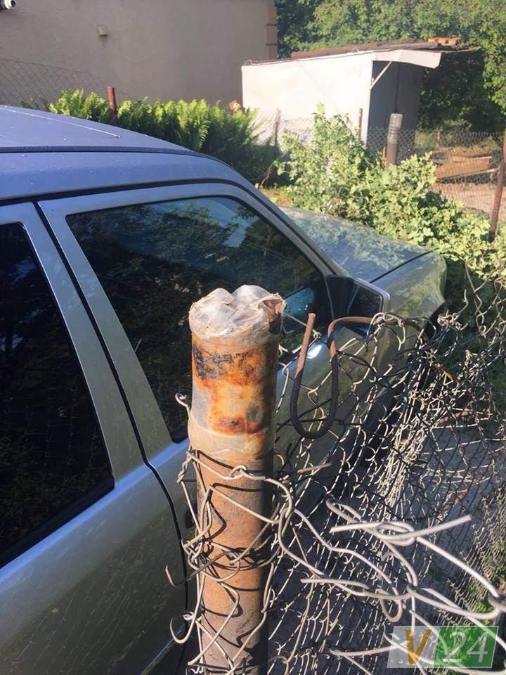 В Луцке водитель в алкогольном опьянении сбил столб и наехал на куст роз (фото)