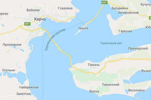 На картах Google появился Керченский мост