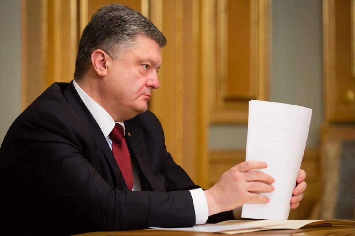 Порошенко подписал указ о продлении санкций против России синхронизированных с США