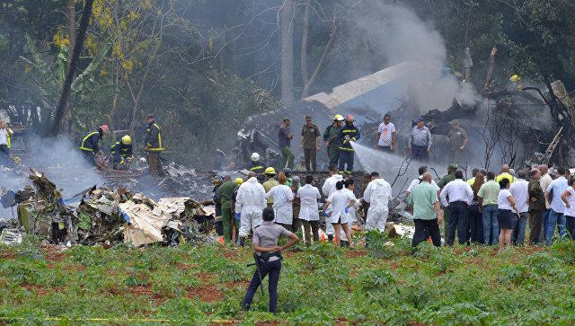 В аэропорту Гаваны разбился самолет во время взлета (ВИДЕО)