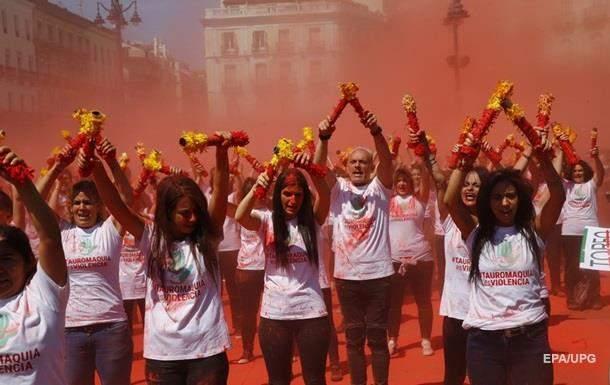 В Мадриде прошла многотысячная демонстрация против корриды