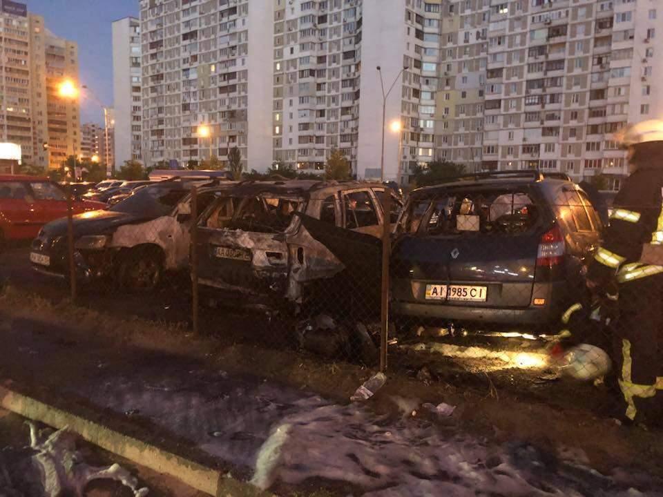 В Киеве подожгли автомобиль помощника депутата Мосийчука (фото)