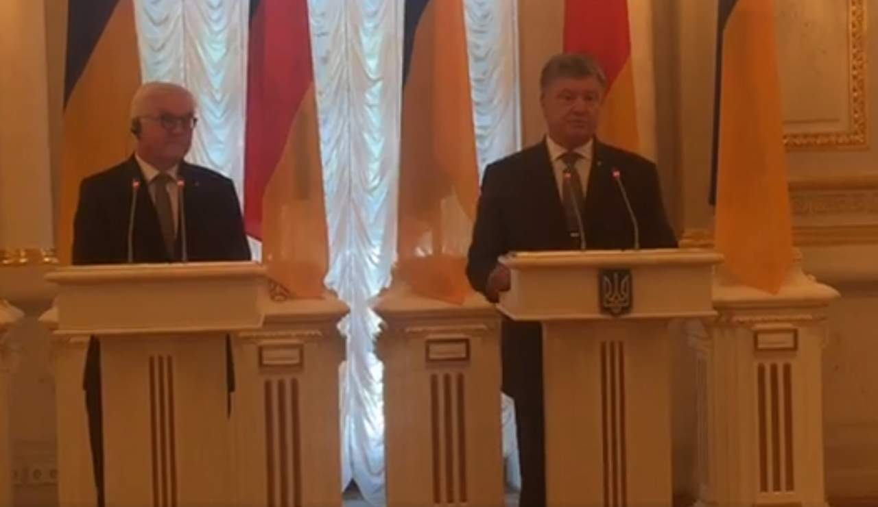 Порошенко встретился с президентом Германии в Киеве (прямая трансляция)