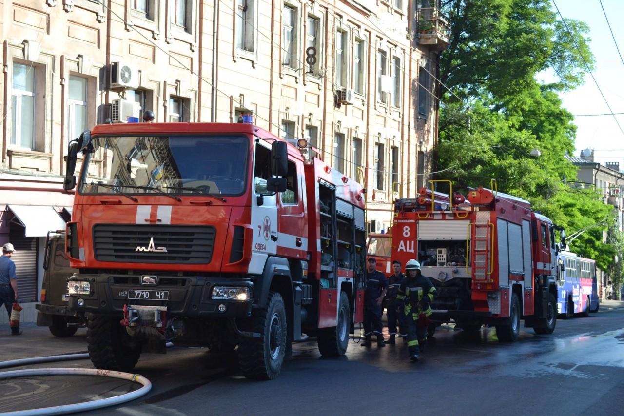В результате пожара в Одессе погиб человек