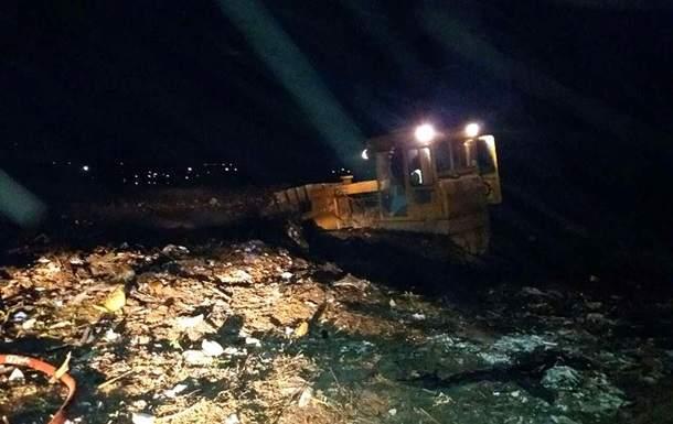 В Полтавской области горела свалка  твердых бытовых отходов