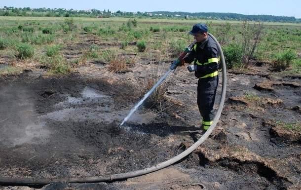 Во Львовской области  зафиксировано масштабное возгорание торфа