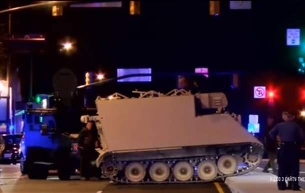 В США из воинской части солдат угнал бронетранспортер