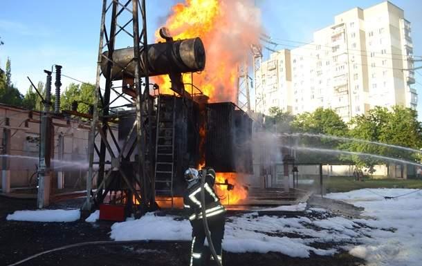 В Одессе из-за возгорания на Крымской электроподстанции обесточены 75% абонентов