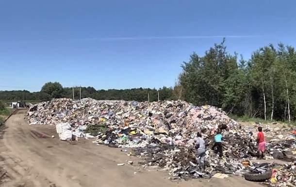 Во Львове снова образовалась огромная мусорная свалка, которая вызывает кожную аллергию у местного населения