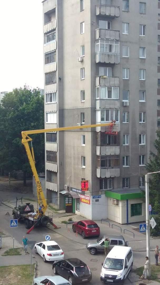 В Харькове из-за парня-романтика образовалась пробка на дороге (фото)