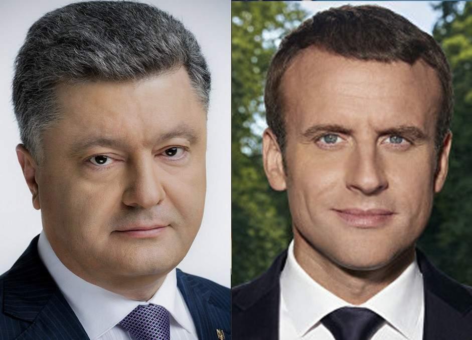 Порошенко по телефону обсудил с Макроном конфликт на Донбассе