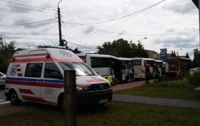 В Польше  столкнулись два пассажирских автобусов,  пострадали 17 человек