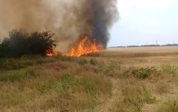 В Николаевской области произошел пожар на пшеничном поле,  4,5 гектара пшеницы уничтожено