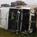 В Польше автобус избегая столкновения с дикой козой попал в ДТП, пострадали шесть человек