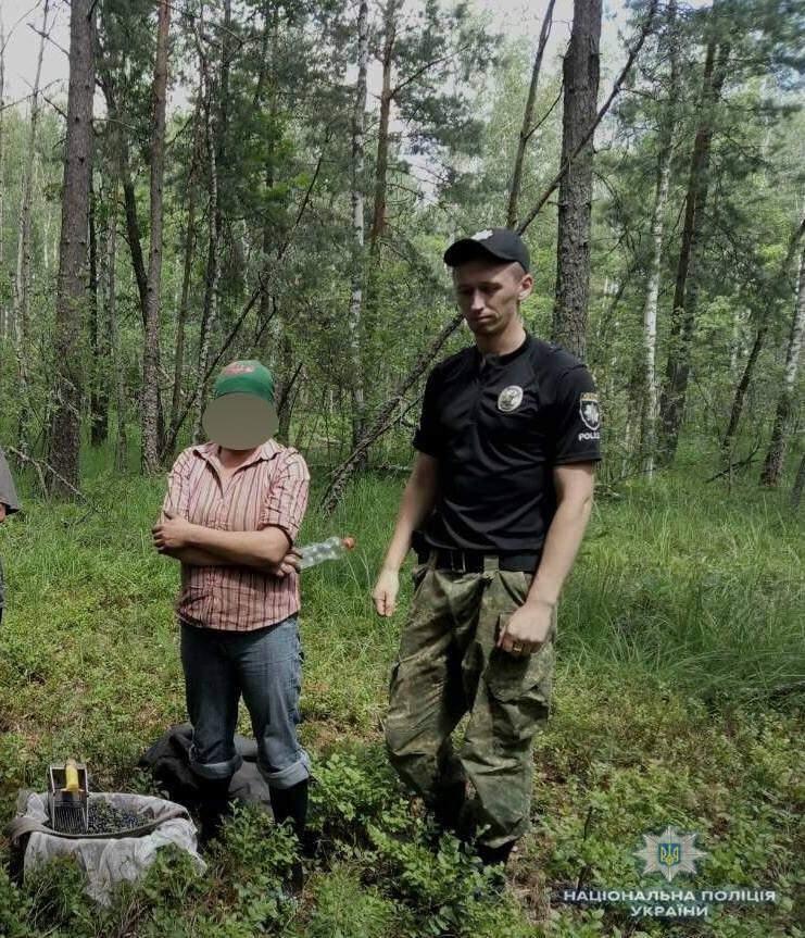 В Чернобыльской зоне задержали девушку, которая собирала чернику на продажу