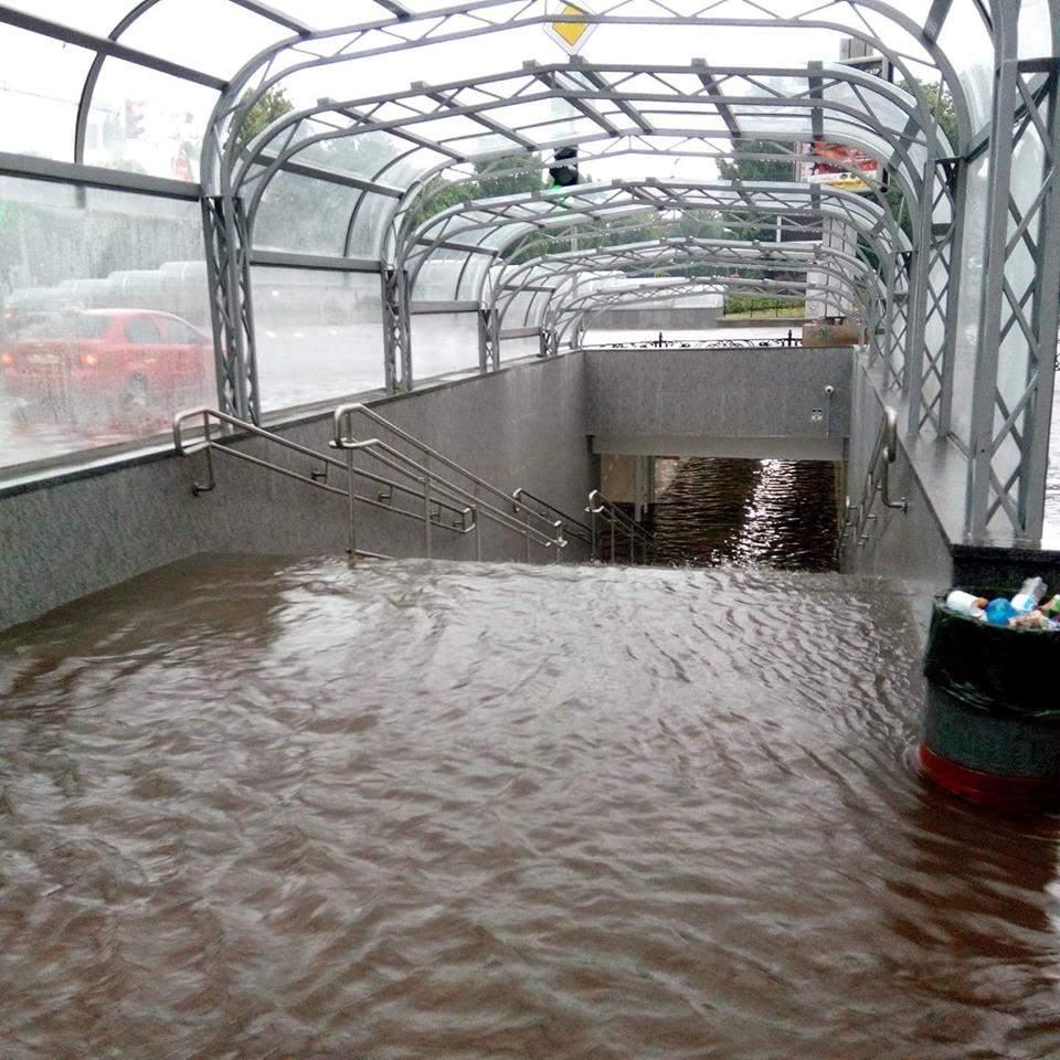 В Чернигове из-за  ливня затопило город и окрестные села (фото)