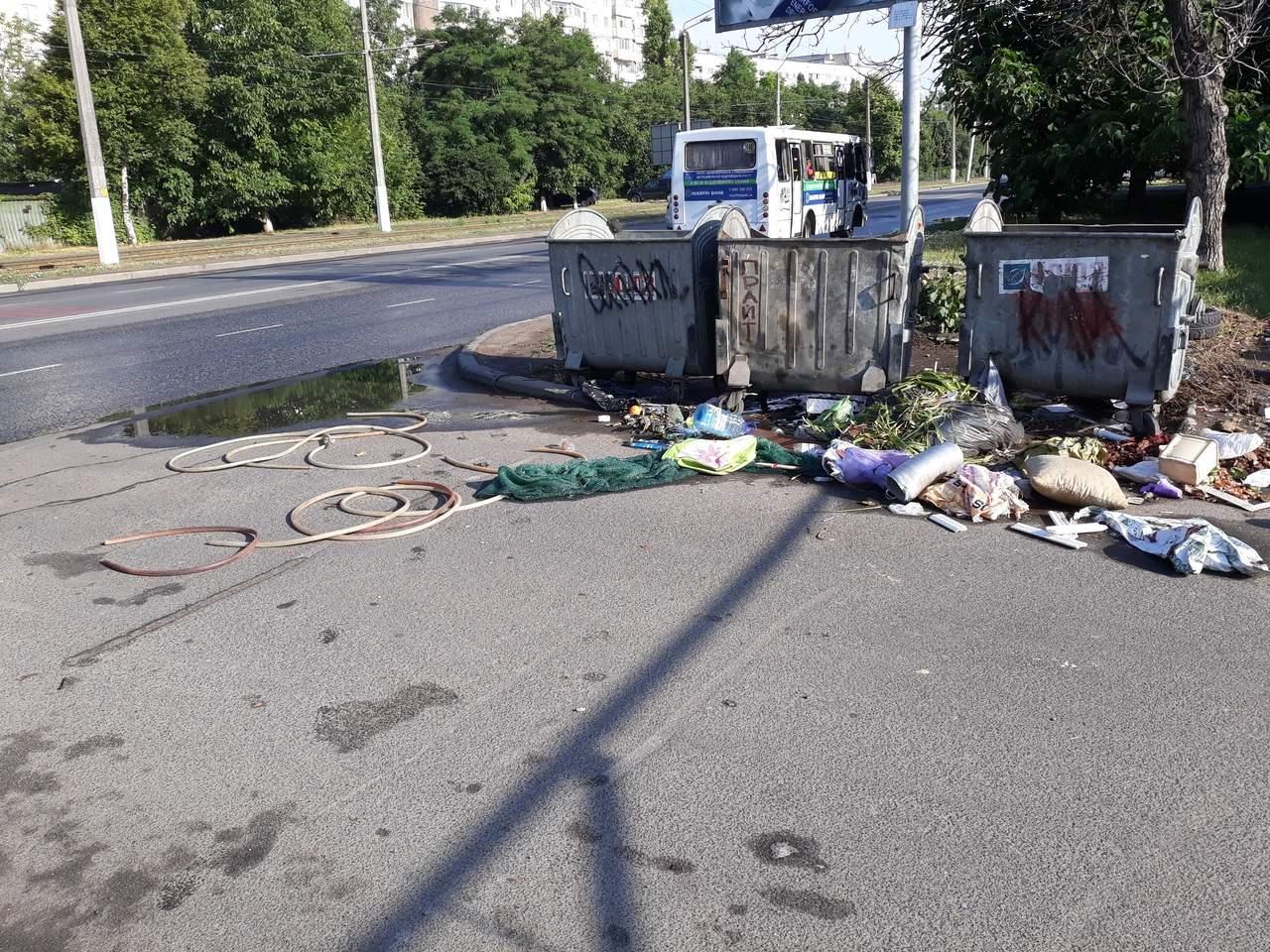 В Одессе разбросанные кучи мусора заполонили одну из улиц (Фото)