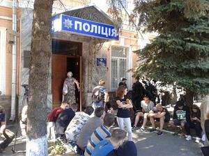 В Киеве на территории районного управления полиции произошел пожар