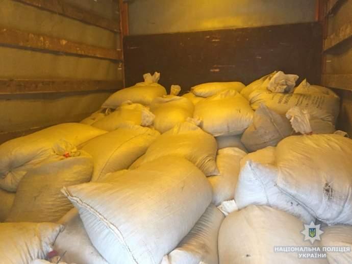 На Житомирщине задержали грузовик, в котором было более двух тонн нелегального янтаря (фото)