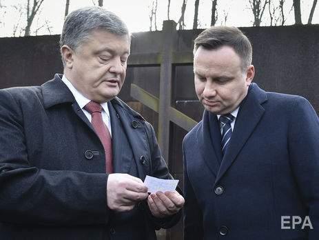 Порошенко намерен посетить Польшу, а Дуда - Украину