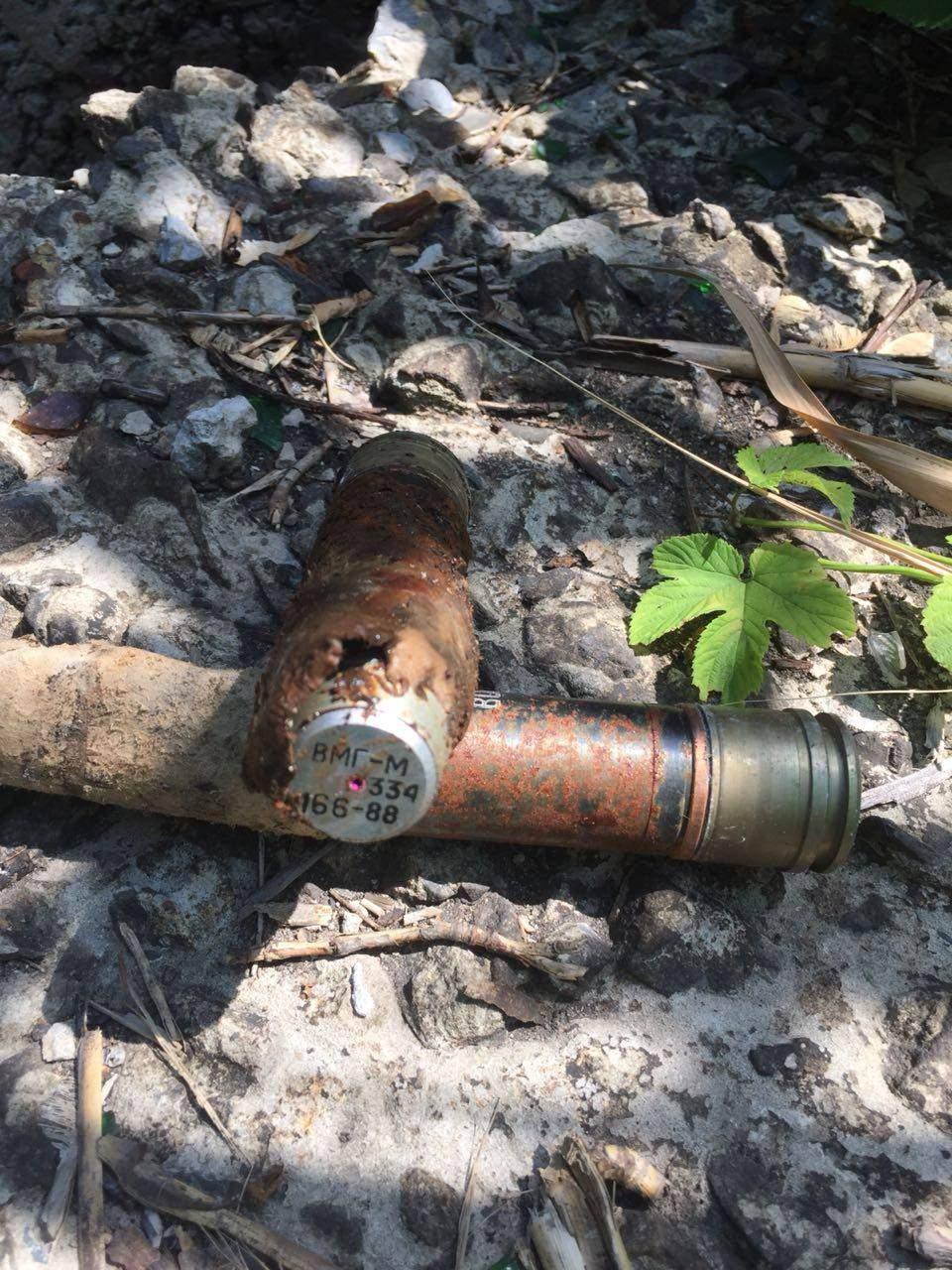 На въезде в Лисичанск обнаружили схрон с боеприпасами