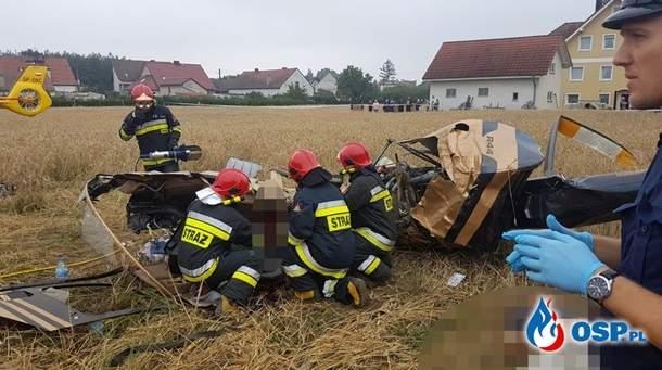 В Польше разбился вертолет, два человека погибли, еще один пострадал