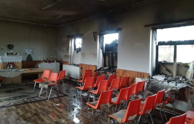 На Закарпатье в ромском поселении сгорел детский сад (фото)