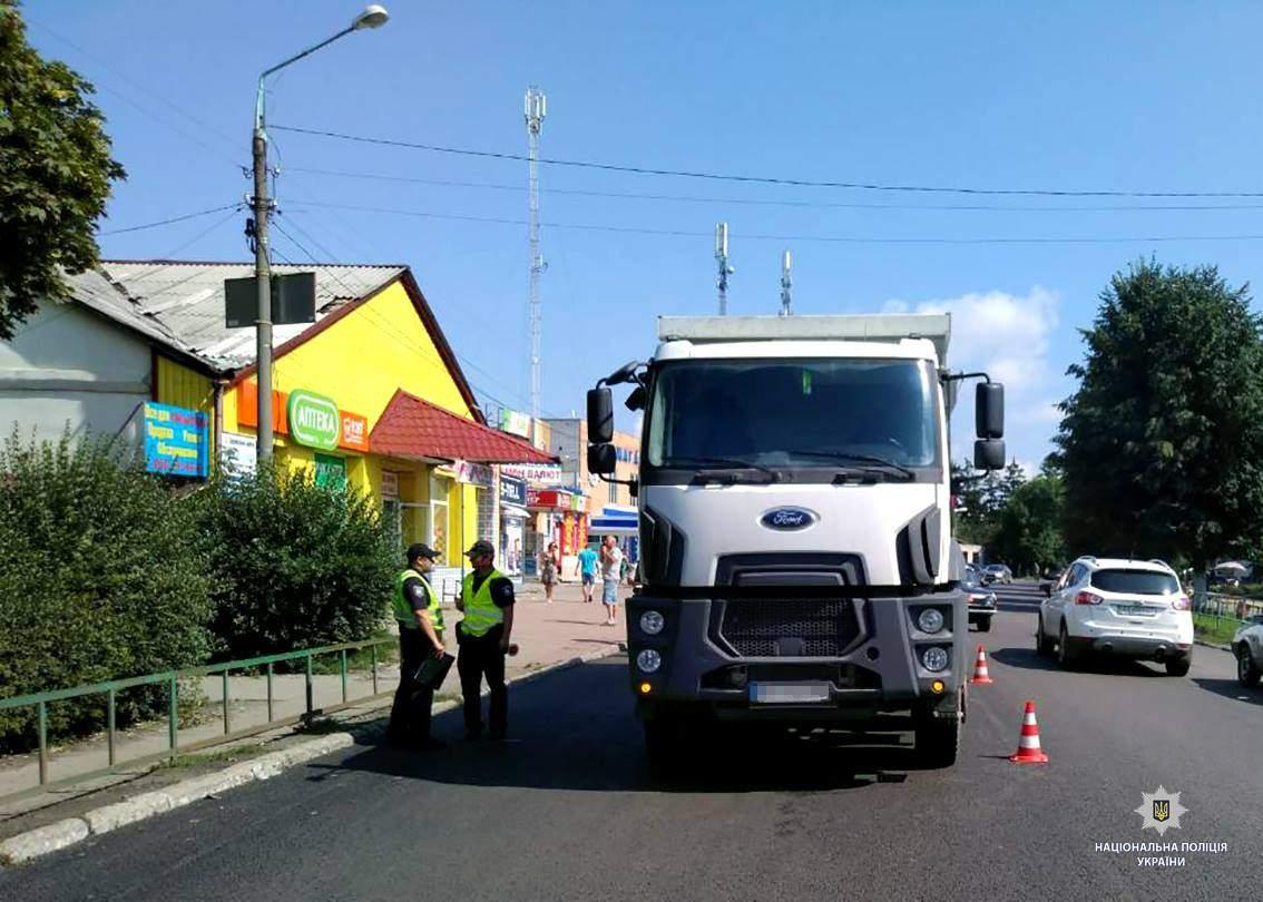 На Харьковщине грузовик совершил наезд на пенсионера (фото)