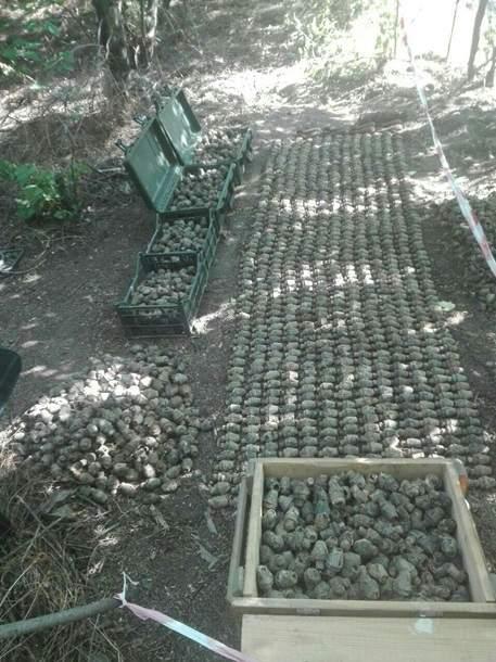 Возле Одесской железной дороги нашли пять тысяч боеприпасов