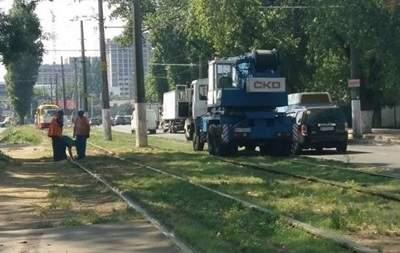 В Одессе  сошел с рельсов трамвай № 27