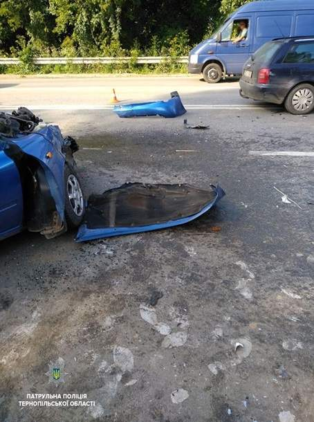 В Тернополе  в тройном ДТП столкнулись автомобили
